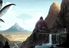 temple_on_the_edge_by_industrial_forest-d61oaro